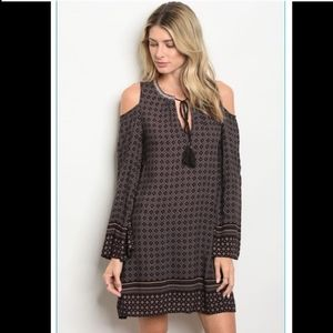 Cold Shoulder Dress. MEDIUM